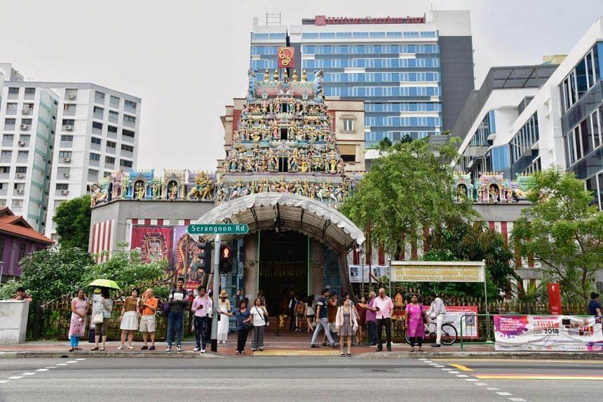 The Sri Veeramakaliamman Temple along Serangoon Road.