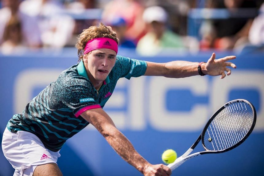 Alexander Zverev of Germany at his finals match at the Citi Open tennis tournament at the Fitzgerald Tennis Center in Washington, DC, US, on Aug 5, 2018.