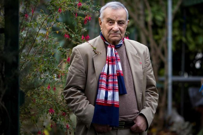 French militant of Armenian descent Arsene Tchakarian, the last survivor of the World War II Missak Manouchian French resistant group, at home in Vitry-sur-Seine, a neighboring suburb of Paris, on Nov 29, 2011.