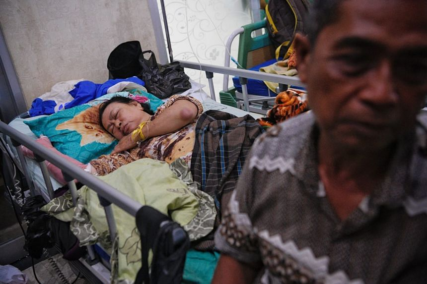 Mr Johardi, a resident of Tanak Song village in North Lombok, the worst affected by the earthquake on Aug 5, 2018, said his wife Aminah injured both her legs and her right arm.