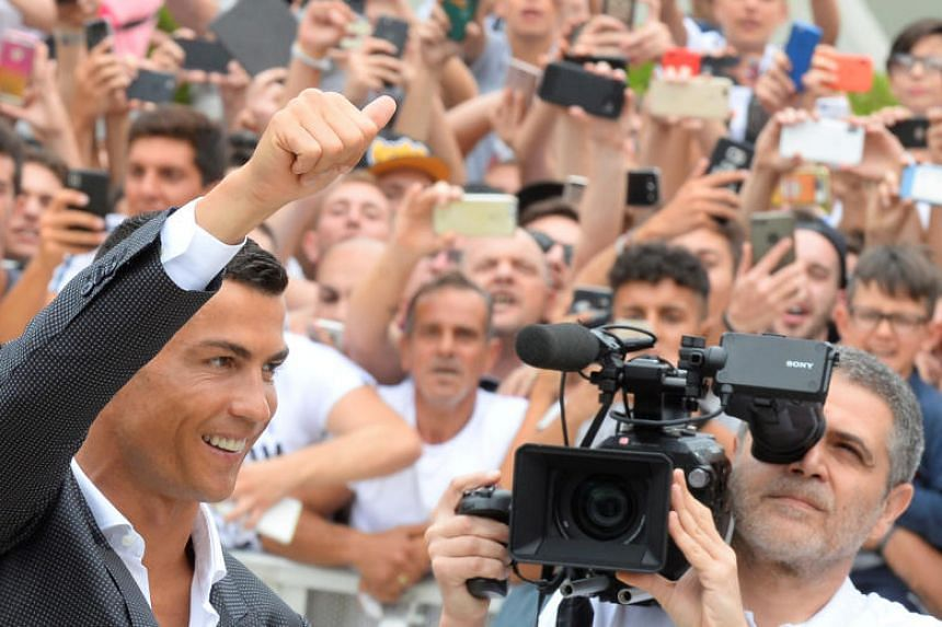 Cristiano Ronaldo arrives at Juventus' medical centre in Turin, Italy, on July 16, 2018.