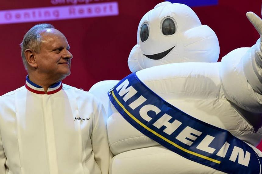 Joel Robuchon at the Michelin Guide Singapore's award ceremony on July 21, 2016.