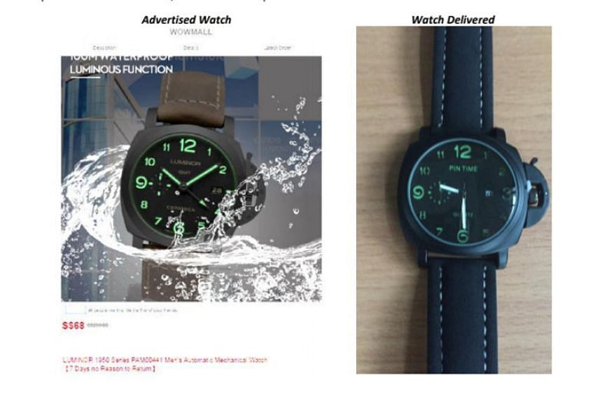 The Consumers Association of Singapore (Case) said it received seven complaints against Wowmall over purchases of a timepiece between May and June 2018.