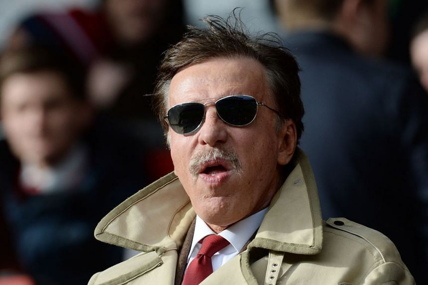 Arsenal owner Stan Kroenke watching his ream play Liverpool in a 2014 file photo.