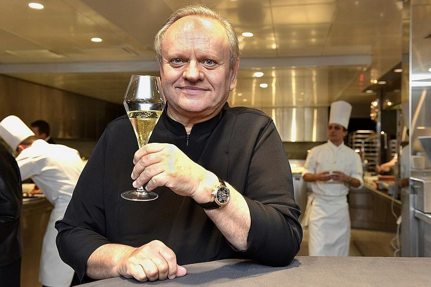 French chef Joel Robuchon in Switzerland on Dec 17, 2013. He closed his Joel Robuchon Restaurant at RWS - the only restaurant in Singapore with three Michelin stars - two months ago.