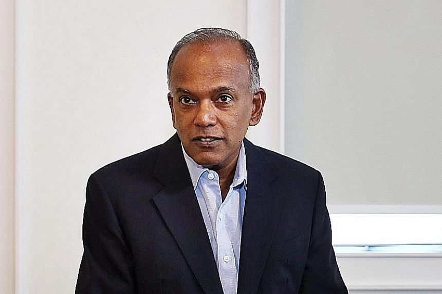 Home Affairs and Law Minister K. Shanmugam spent the night at the airport while waiting for a flight out of Lombok.