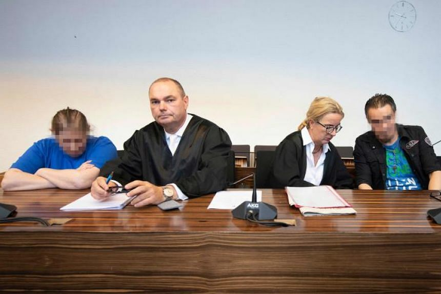 The Freiburg court jailed Berrin Taha (left) for 12 years and six months, while her partner, Christian Lais (right), who was the boy's stepfather, received 12 years.
