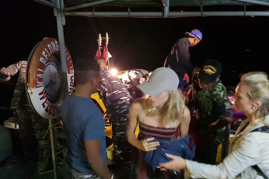 Evacuation of tourists and residents from Gili Trawangan, Lombok, by Indonesian Armed Forces on Aug 7, 2018.