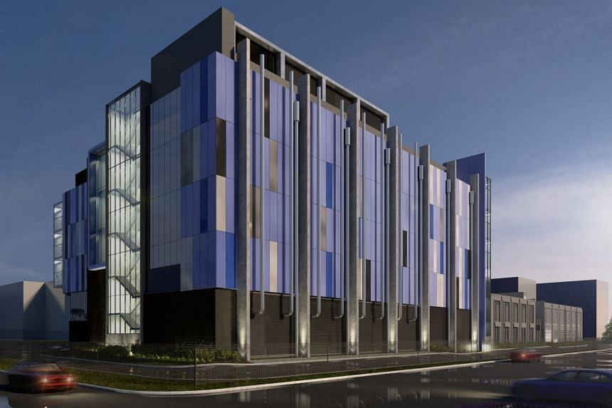 An artist's impression of the Intellicentre 3 East Data Centre (IC3 East DC) to be built in Macquarie Business Park in Sydney, Australia.