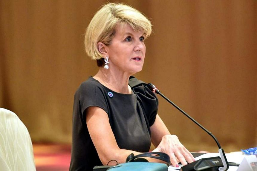 Foreign Minister Julie Bishop (pictured) raised the issue in a meeting with counterpart Ri Yong-ho at a security forum in Singapore.