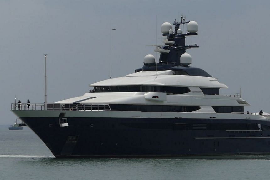 The yacht had arrived in Malaysia from Indonesia's Bali island, via Batam, on Aug 7, 2018.