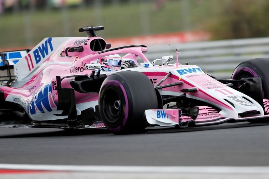 Force India's Sergio Perez during practice for the Hungarian Grand Prix.