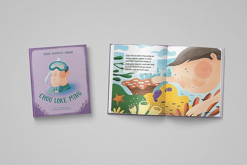 Among the six scientists featured in the books is home-grown Chou Loke Ming, a coral expert whose work contributed to the establishment of Singapore's first marine park - Sisters' Islands Marine Park.