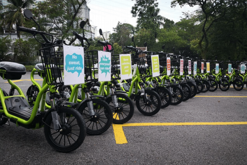 Revgo bikes can travel at a speed of up to 20km an hour and as far as 50km on a full charge.