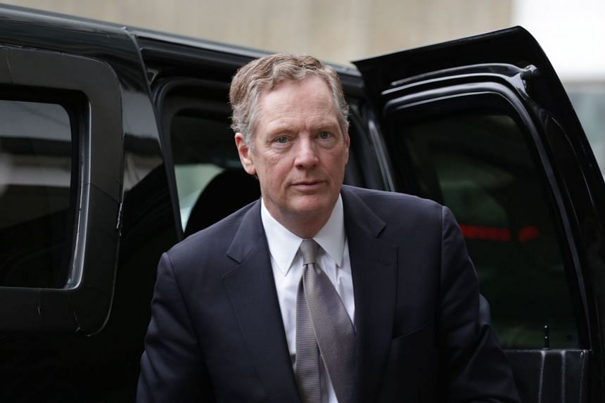 US Trade Representative Robert Lighthizer arriving the European Commission headquarters in Brussels.