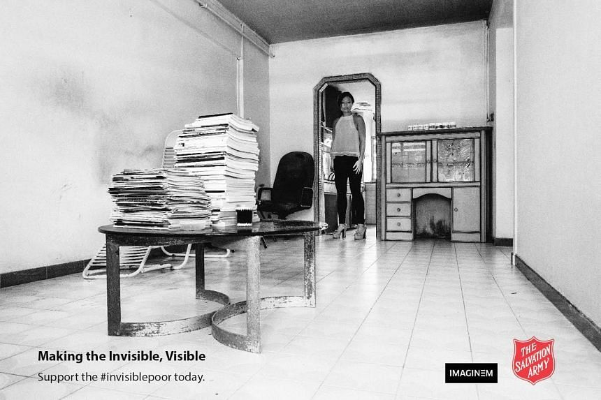 The Food Bank Singapore co-founder Nichol Ng is among eight public personalities and prominent advocates to appear in the black-and-white photo series by The Salvation Army and social enterprise Imaginem, titled Making The Invisible, Visible.