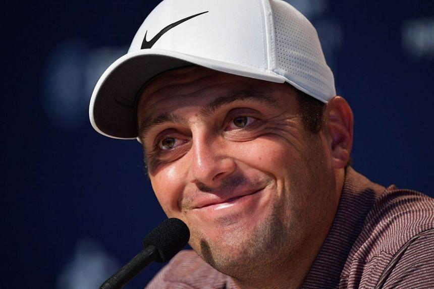 Molinari speaking to the media ahead of the PGA Championship.