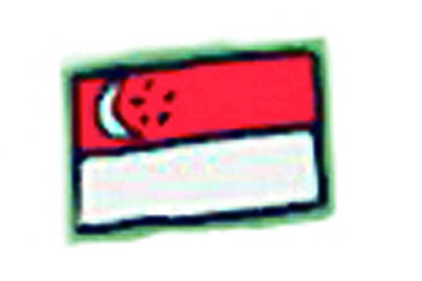 The Singapore flag (10).