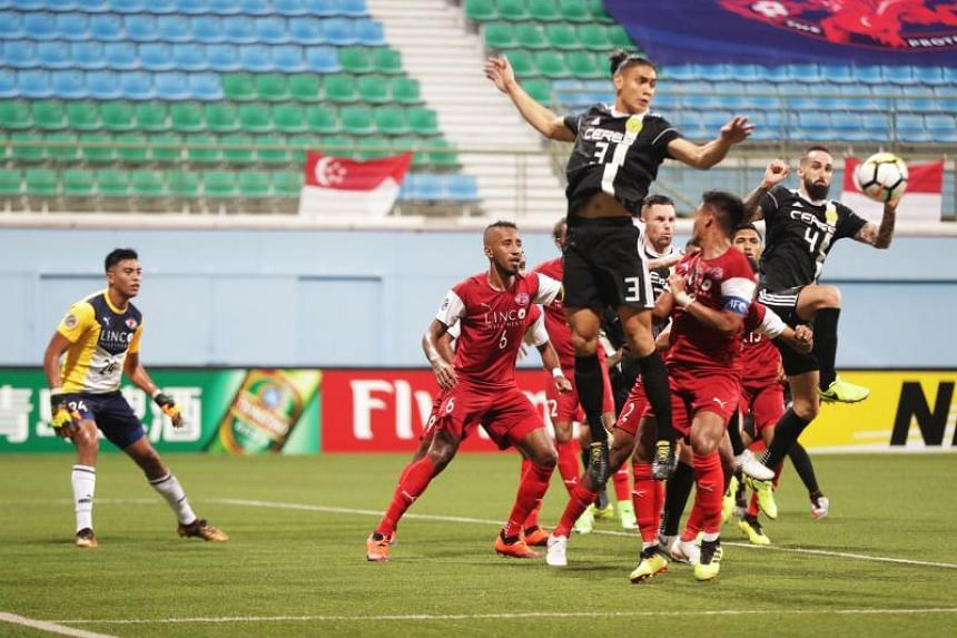Home United beat Philippine side Ceres Negros 2-0 in their Asian Football Confederation Cup Asean zonal final second-leg clash, to win the tie 3-1 on aggregate.