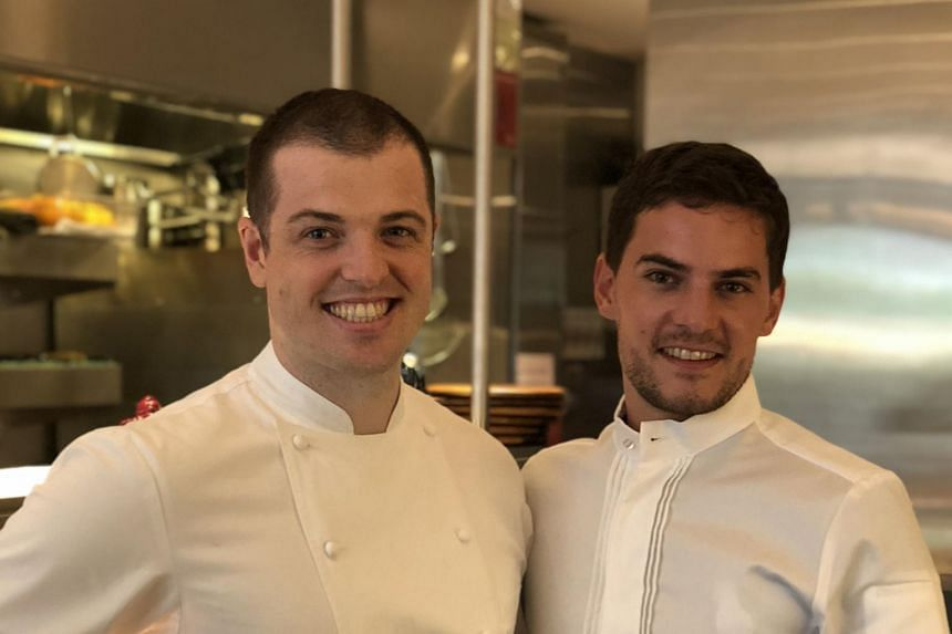 Former Robuchon chef, Frenchman Vianney Massot (right) takes over from Australian-born chef Luke Armstrong as executive chef of one-Michelin-starred restaurant Bacchanalia.