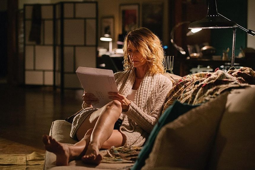 Benedict Cumberbatch (above) plays a drug-addled playboy from an uppercrust British family in Patrick Melrose. Laura Dern (below) stars as Jennifer Fox, who realises in her 40s that she was sexually abused as a teenager in The Tale.
