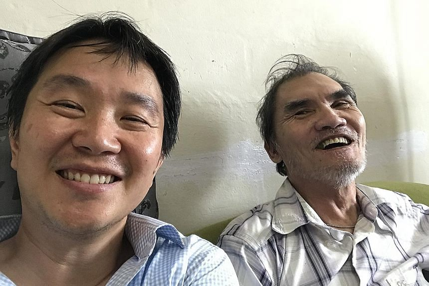 Mr Yap Tat Ming (left) won a pair of NDP tickets after writing about his mentor Richard Lim, a former drug addict who set up a shelter in Myanmar for orphans.