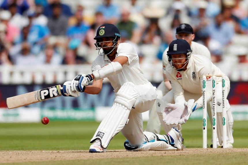 India's Ishant Sharma in action against England during the First Test match in Birmingham, Britain, on Aug 4, 2018.