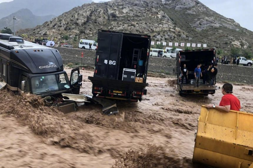 Actor Jackie Chan and his crew were rescued after they were trapped in a sudden mudslide while filming Project X on Aug 3, 2018.