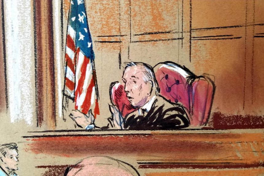 Judge T.S. Ellis presides over the trial of US President Donald Trump's former campaign chairman Paul Manafort, on the fifth day of the trial in federal court in Alexandria, Virginia, US, on Aug 6, 2018.