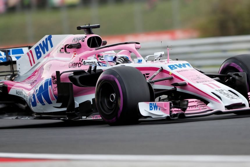 Force India's Sergio Perez during practice at the Hungarian Grand Prix, on July 27, 2018.