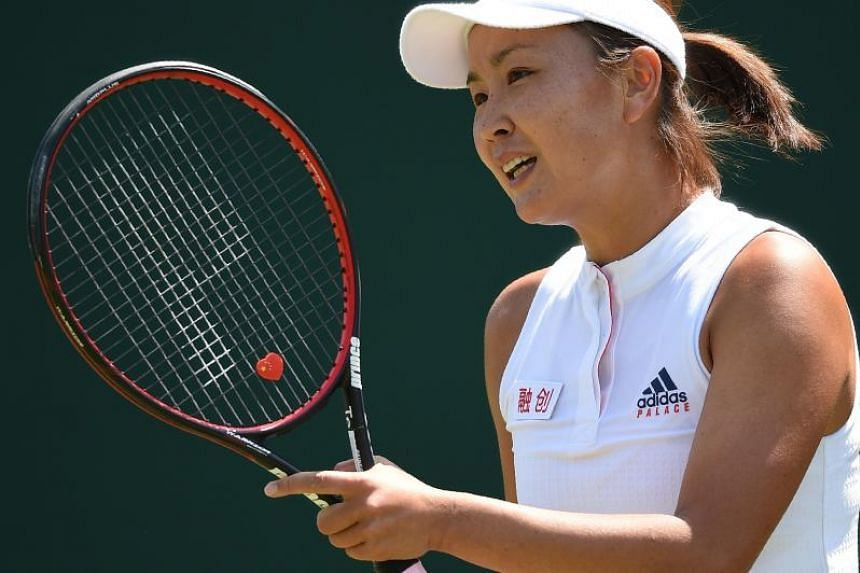 China's Peng Shuai was banned six months and fined US$10,000 for attempting to coerce her doubles partner to withdraw from Wimbledon in 2017.