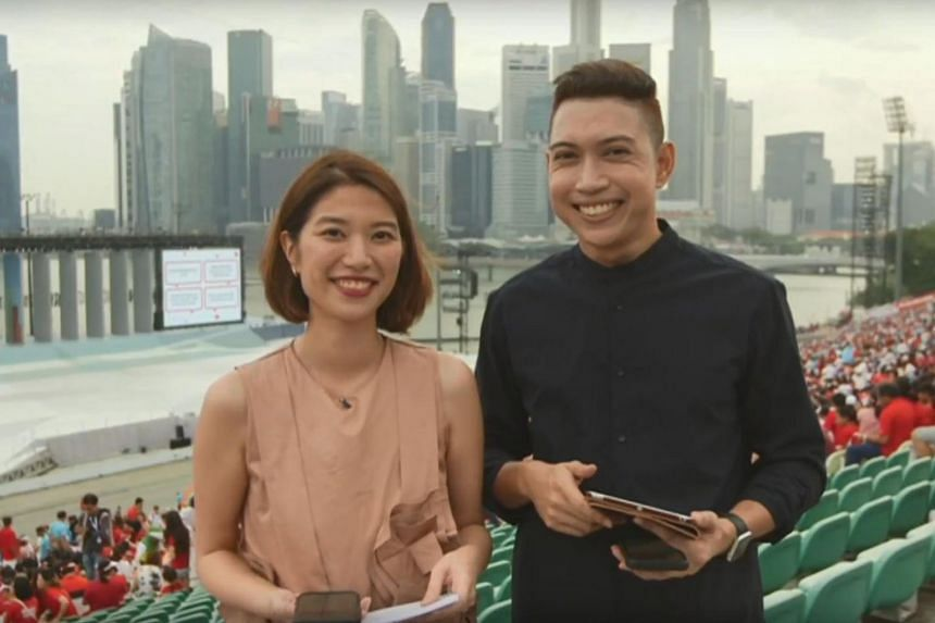 Multimedia journalists Alyssa Woo (left) and Hairianto Diman (right) anchored the show, which is usually broadcast from a studio in the ST newsroom on Thursdays.