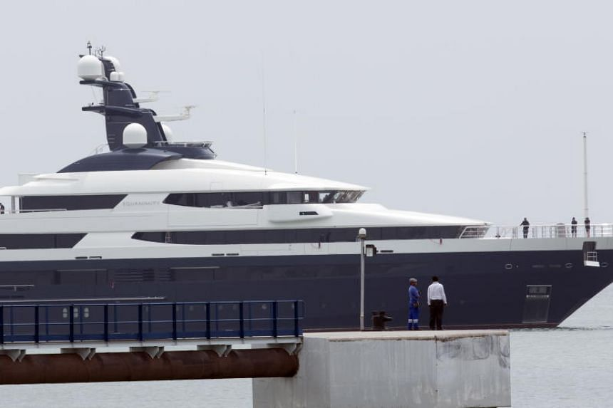 The RM1 billion vessel (S$340 million) was allegedly bought by businessman Low Taek Jho or Jho Low using funds stolen from state fund 1Malaysia Development Bhd.
