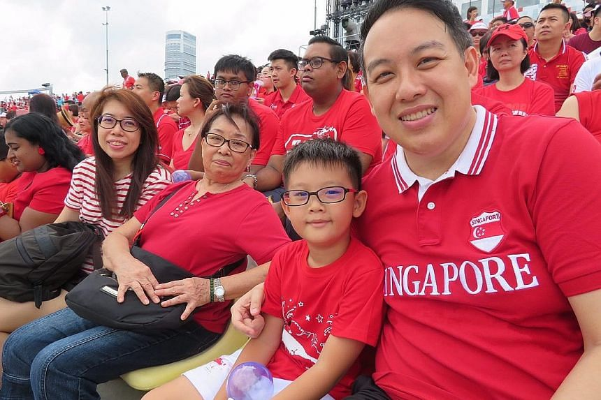 MR WILLIAM CHOW, 45, an IT manager, who attended the parade with his son Samuel, mother Lilie and younger sister Agnes.