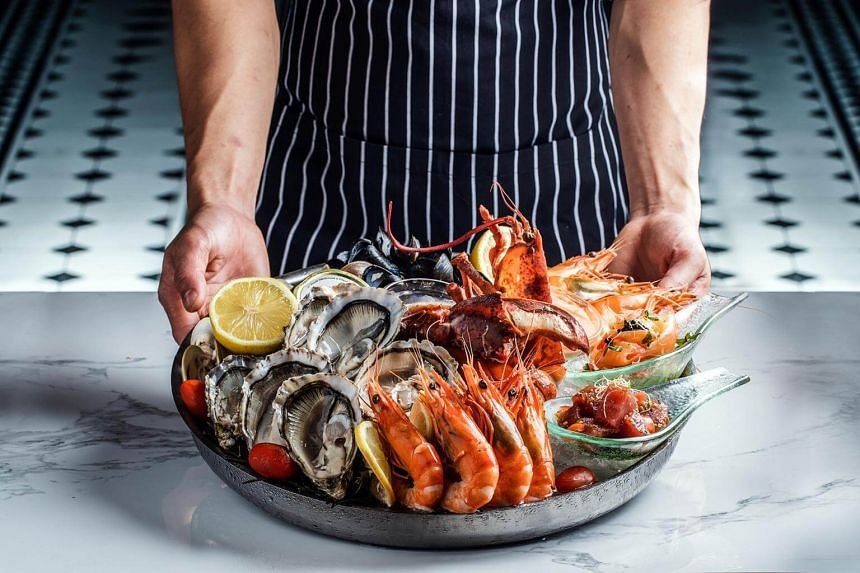The Cold Seafood Platter works well as a shared starter for a group of four.