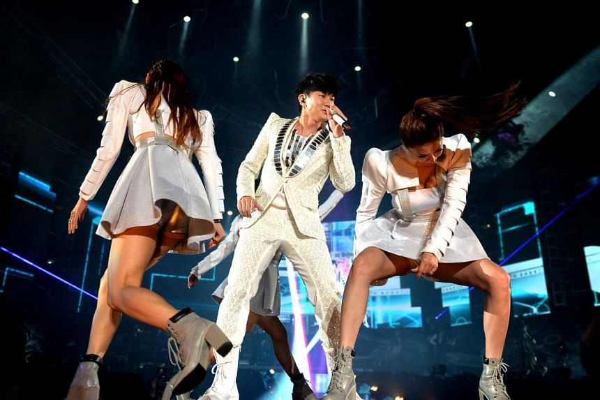 File photo of local singer JJ Lin performing at the Singapore Indoor Stadium in September 2015.