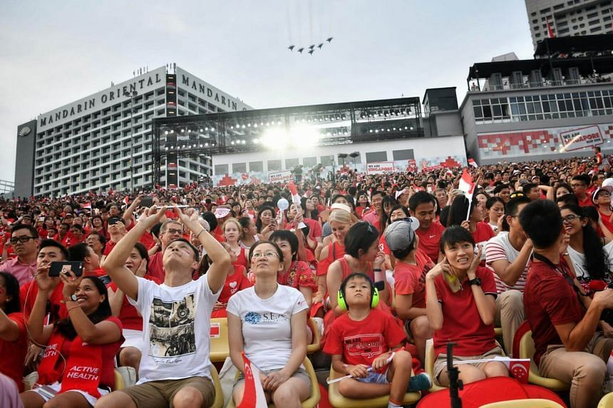 A view of the audience at the National Day Parade 2018, on Aug 9, 2018.