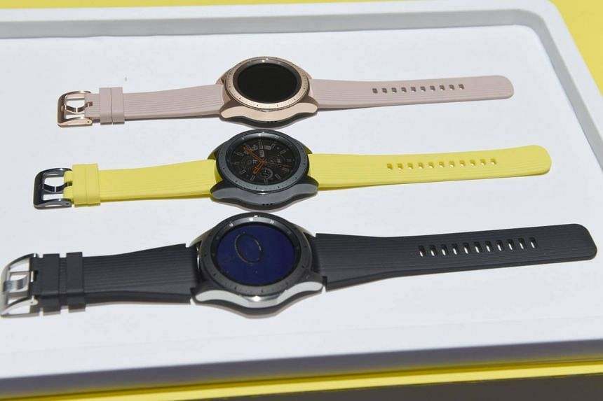 The Samsung Galaxy Smart Watch during an event at the Barclays Center in Brooklyn, on Aug 9, 2018.