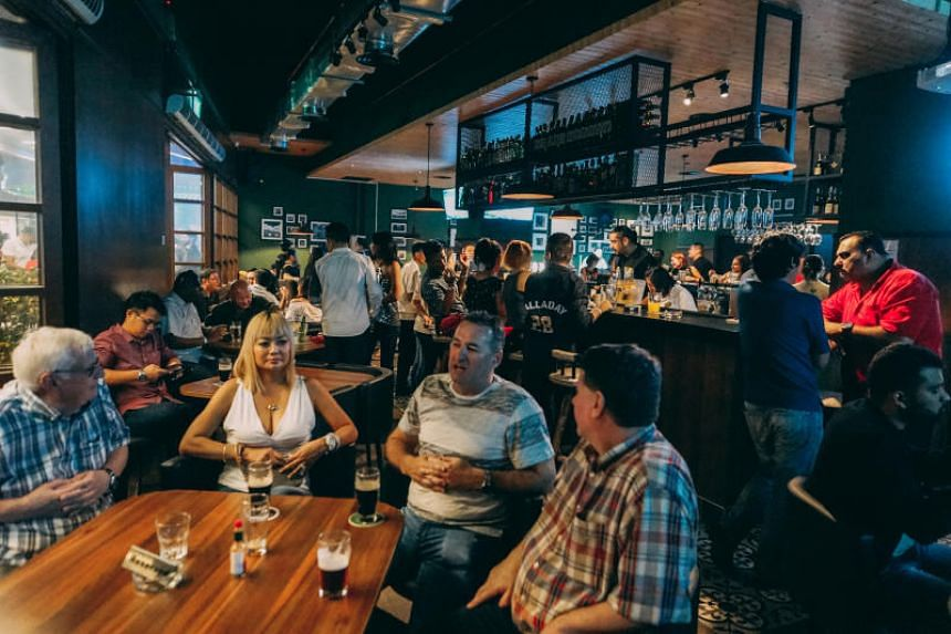 Revellers at Irish pub MacGregor's, which is located within the Zenith Lifestyle Centre in JB.