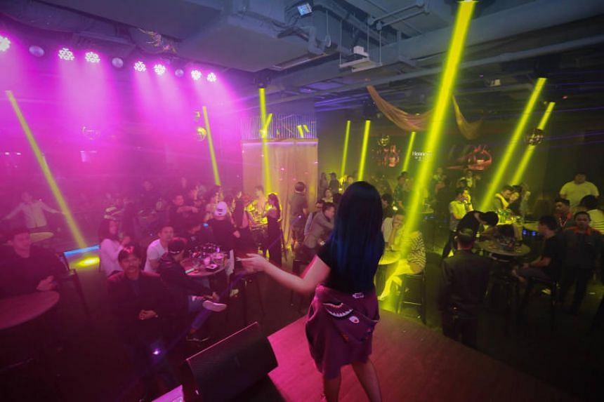 Partygoers at Neverland JB, which is located within the Zenith Lifestyle Centre.