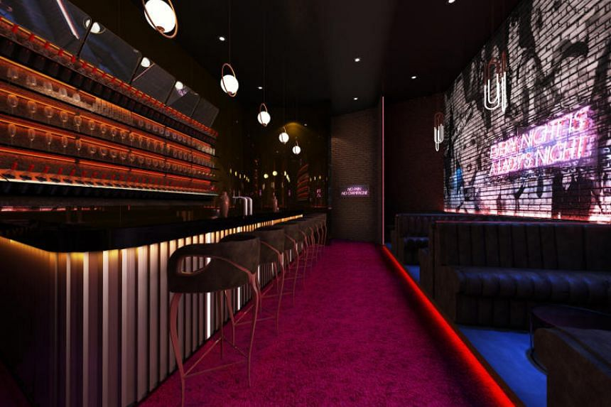 A rendering of cocktail bar XOXO, which is located within Zenith Lifestylt Centre in Johor Bahru.