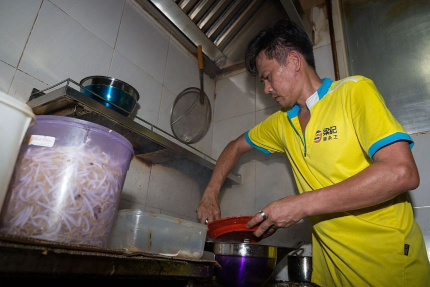 Owner Dominic Neo prepared about 900 plates worth of noodles for the National Day promotion on Aug 9, 2018.