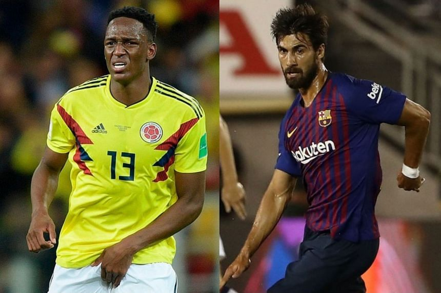 e4fcdf20c Yerry Mina (left) and Andre Gomes are among Everton s new signings.