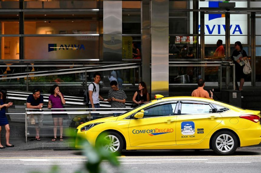 ComfortDelGro Corp's core taxi business continued to suffer from competition from private-hire operators.