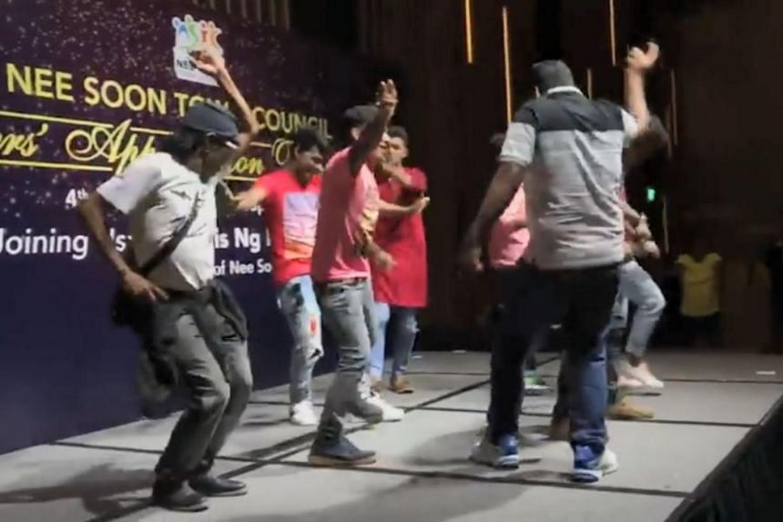 Member of Parliament Louis Ng (Nee Soon GRC) posted a video showing cleaners enjoying themselves on the dance floor, at an appreciation dinner held by the Nee Soon Town Council on Aug 10, 2018.