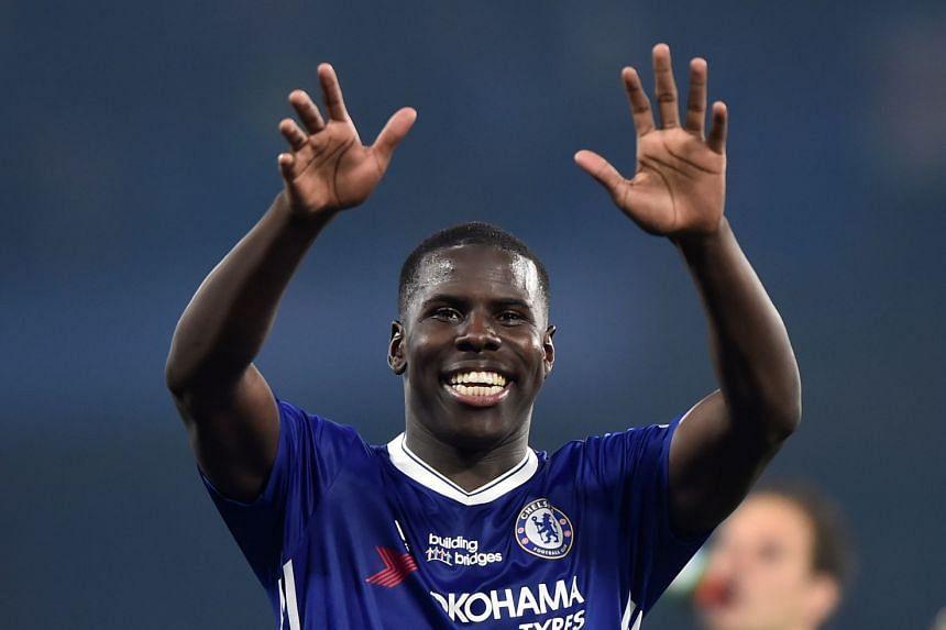 Chelsea's Kurt Zouma at Stamford Bridge, London.