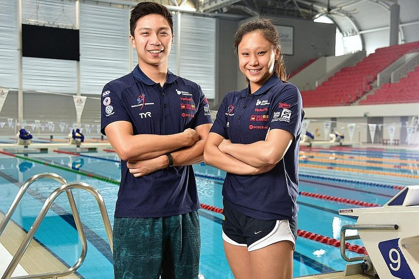 Breaststroke specialists and multiple SEA Games gold medallists Lionel Khoo, 23, and Samantha Yeo, 21, are part of Singapore's 25-strong swim team for the Aug 18-Sept 2 Asian Games in Indonesia.