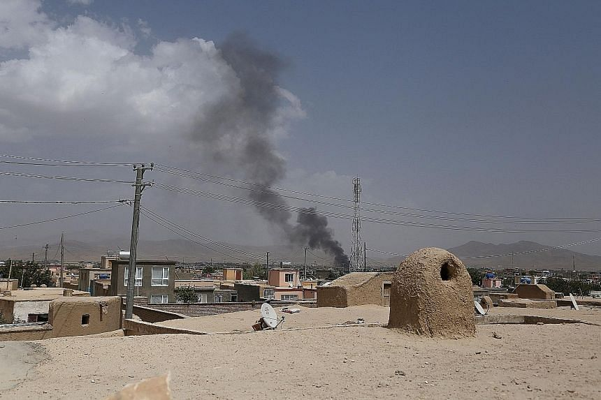 US forces launched air strikes yesterday to counter a major Taleban assault on Ghazni.