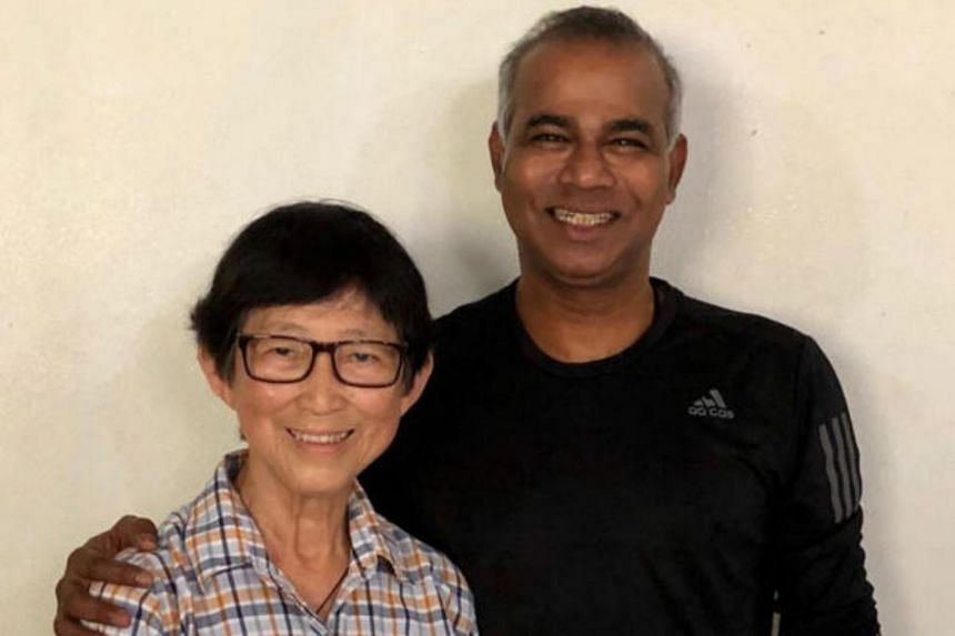 On Aug 11, 2018, Mr Veera met his teacher, Mrs Chee Siew Chuan, whom he has not seen since he left Canberra Primary, at her home in Yio Chu Kang.