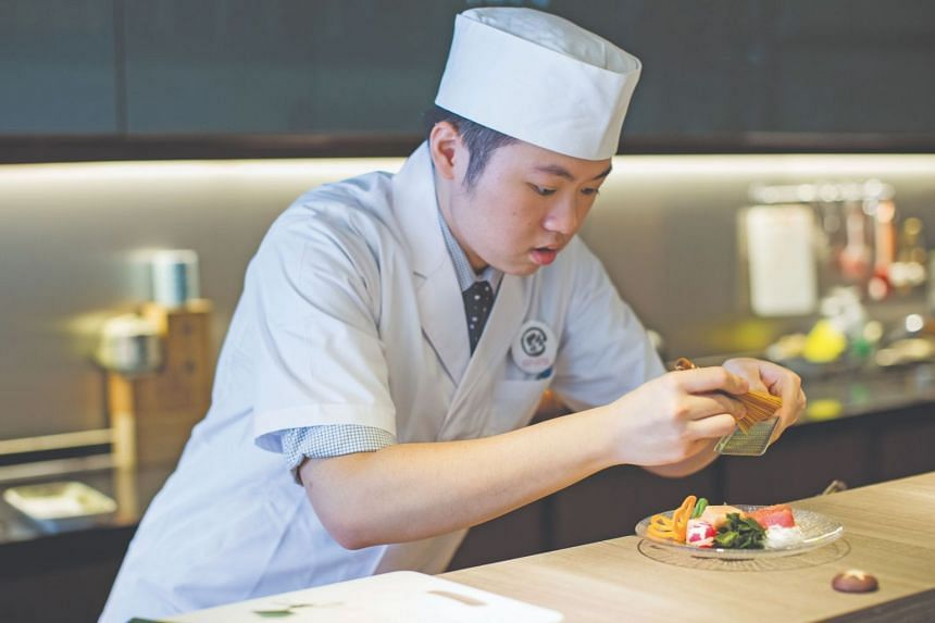 Chef Aeron Choo from Kappou Japanese Sushi Tapas Bar.